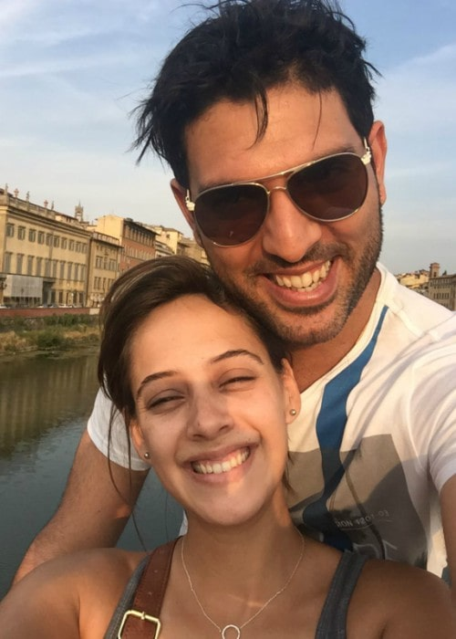 Yuvraj Singh and Hazel Keech in a selfie in November 2019