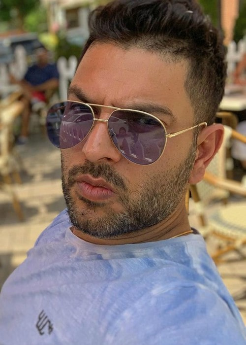 Yuvraj Singh in an Instagram selfie as seen in July 2019