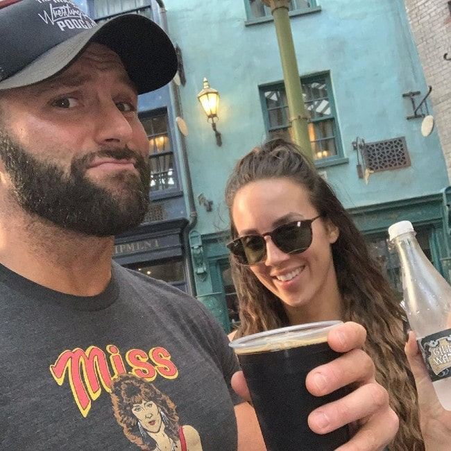 Zack Ryder with his wife Chelsea as seen in January 2019