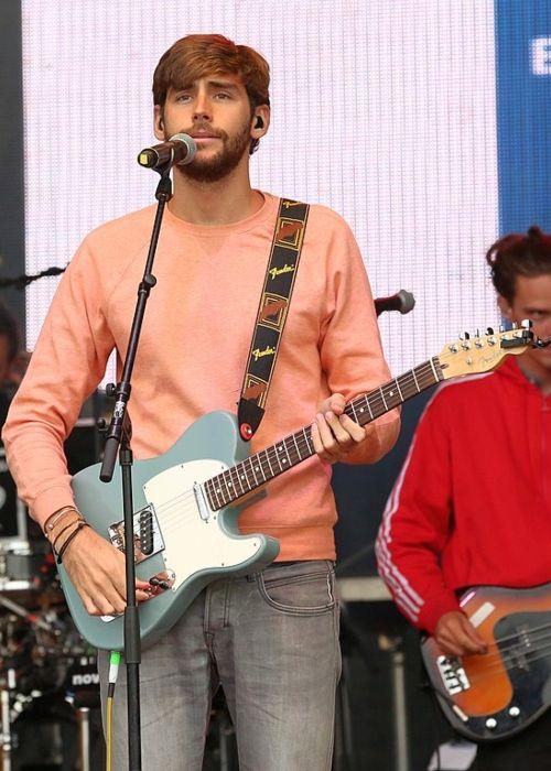 Álvaro Soler performing at the Tag der Sachsen in Löbau, Germany in 2017