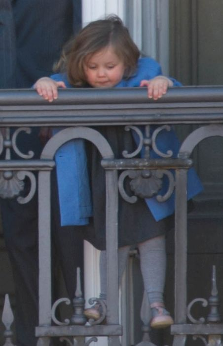 A young Princess Isabella of Denmark as seen on the occasion of Queen Margrethe II's 70th birthday on April 16, 2010
