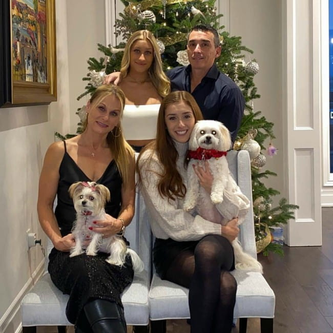 Abbey Nolet with her family as seen in December 2019