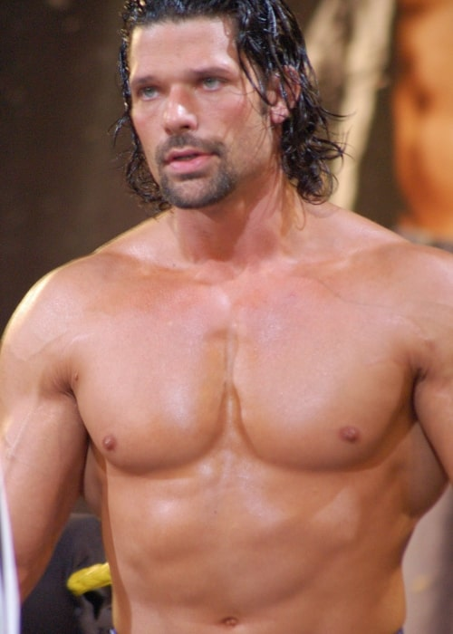 Adam Rose as seen in a picture taken at the Florida Championship Wrestling studio in Tampa on February 11, 2017
