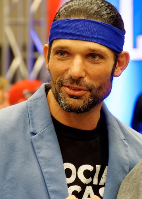 Adam Rose as seen in a picture taken at the WrestleMania 32 Axxess event at the Kay Bailey Hutchison Convention Center in Dallas on April 1, 2016