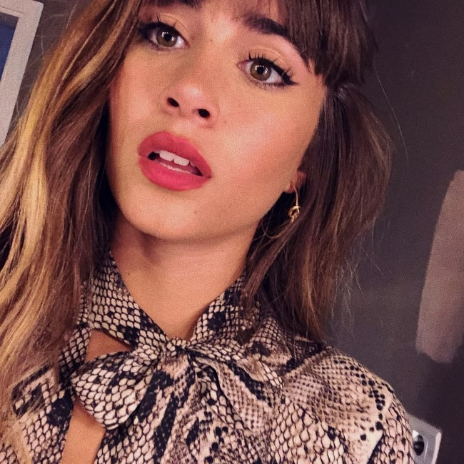 Aitana as seen while taking a selfie in August 2018