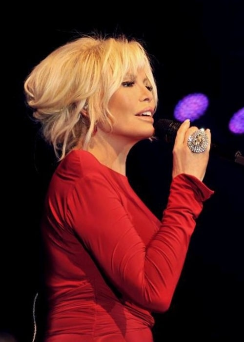 Ajda Pekkan as seen while performing during a concert in 2013