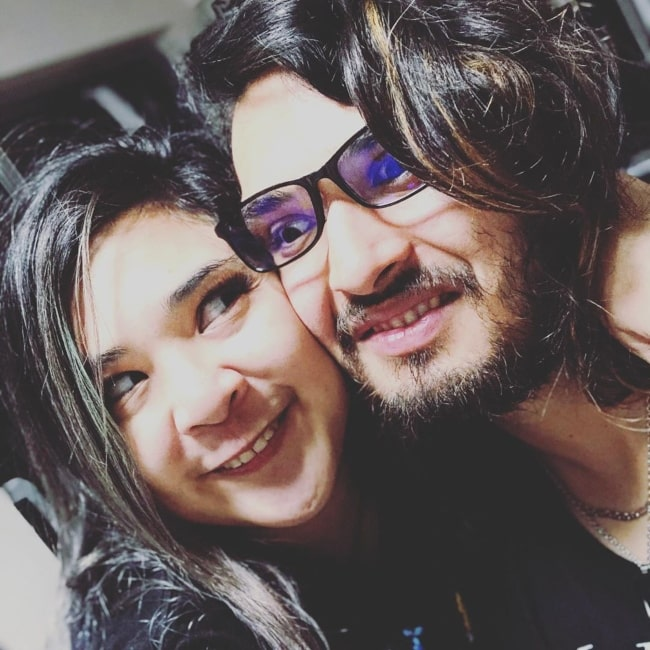 Akidearest as seen in a selfie taken with her beau Joey, The Anime Man in February 2020