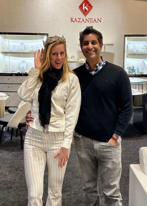 Alison Riske with kind, Husband Stephen Amritraj