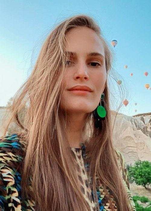 Alla Kostromichova as seen while taking a selfie in Cappadocia, Turkey in December 2019