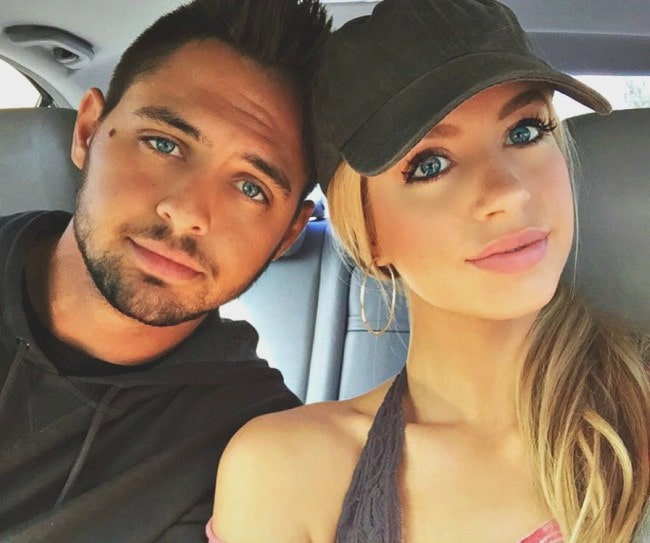 Allie DeBerry and Tyler Beede in a selfie in March 2016