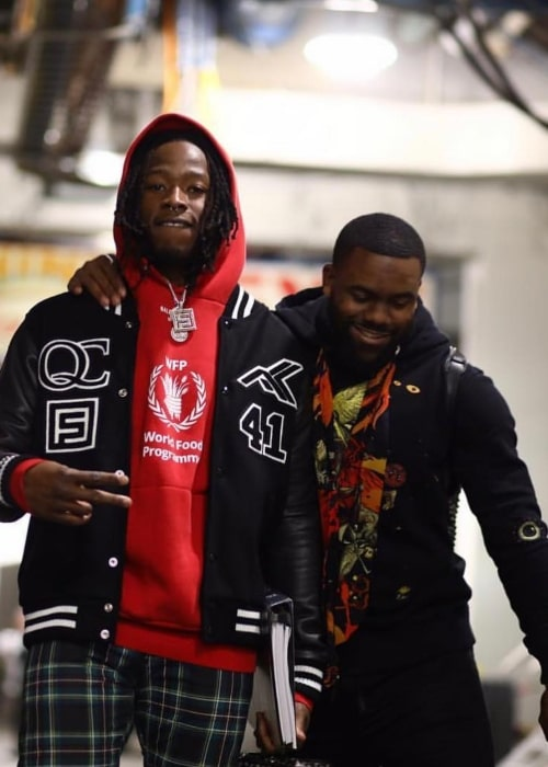 Alvin Kamara as seen in a picture with fellow American football player Mark Ingram Jr. in January 2019
