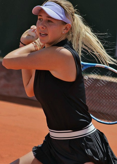 Amanda Anisimova during a match as seen in May 2019