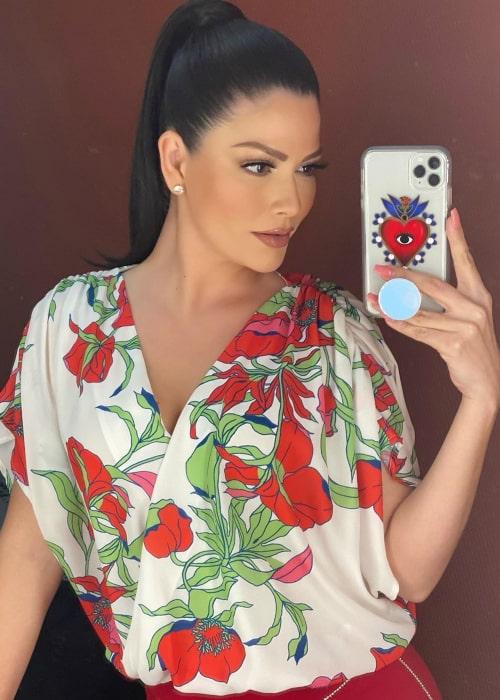 Ana Patricia Gámez in an Instagram selfie in February 2020