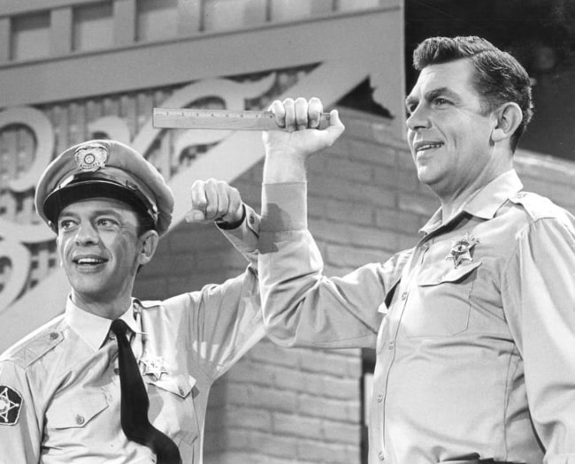 Andy Griffith (Right) and Don Knotts from a Jim Nabors television special