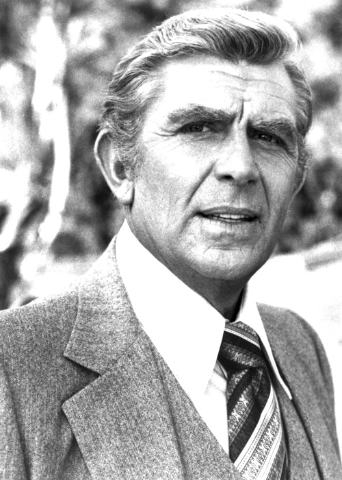 Andy Griffith as seen in a black-and-white picture