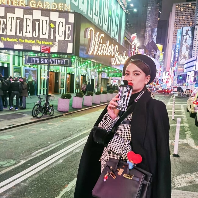Arci Muñoz as seen in a picture taken at the Times Square in New York City, New York in December 2019