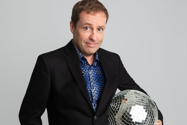 Ardal O'Hanlon promoting his stand-up comedy show in 2019