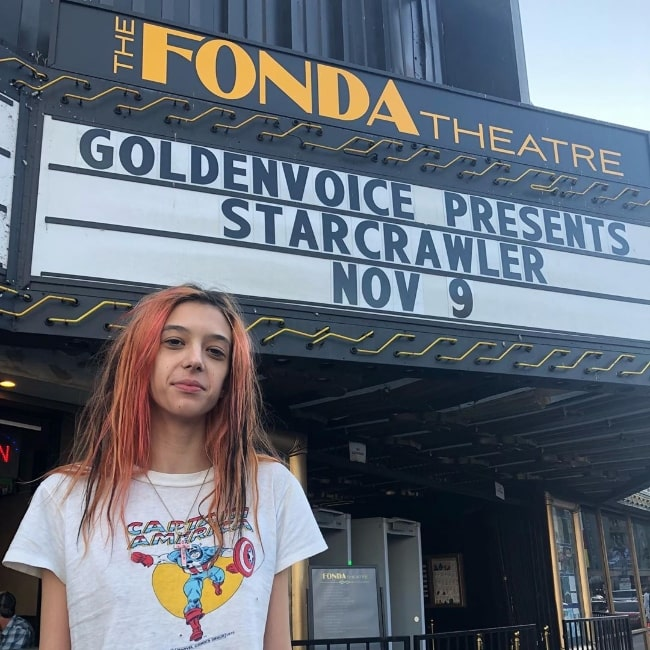Arrow De Wilde as seen in a picture taken at the Fonda Theatre located on Hollywood Boulevard in Los Angeles, California in November 2019