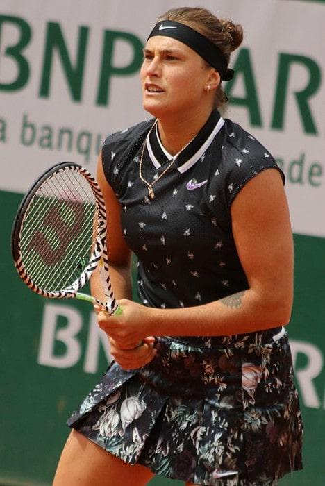 Aryna Sabalenka during a match in May 2019