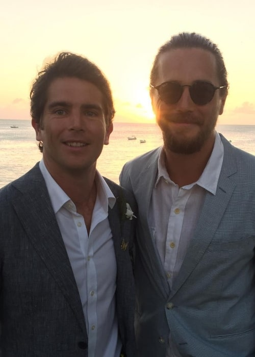 Ben Robson as seen in a picture taken with his younger brother James in November 2018 in Barbados
