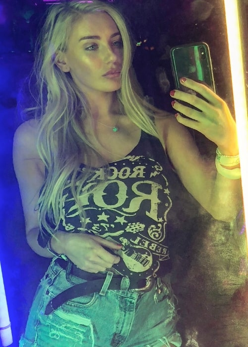 Bethany Lily April as seen while clicking a mirror selfie at the 2018 Coachella Valley Music and Arts Festival held at the Empire Polo Club in Indio, California