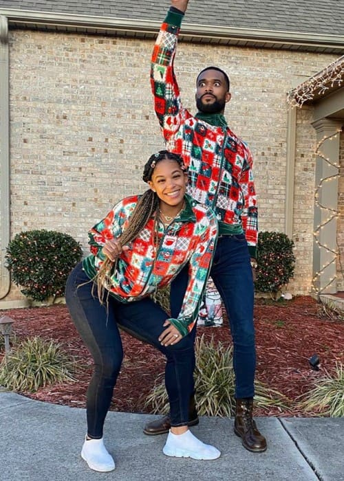 Bianca Belair and Montez Ford as seen in December 2019