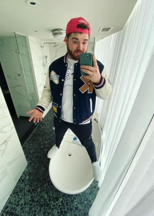 BigJigglyPanda as seen in a selfie taken in February 2020