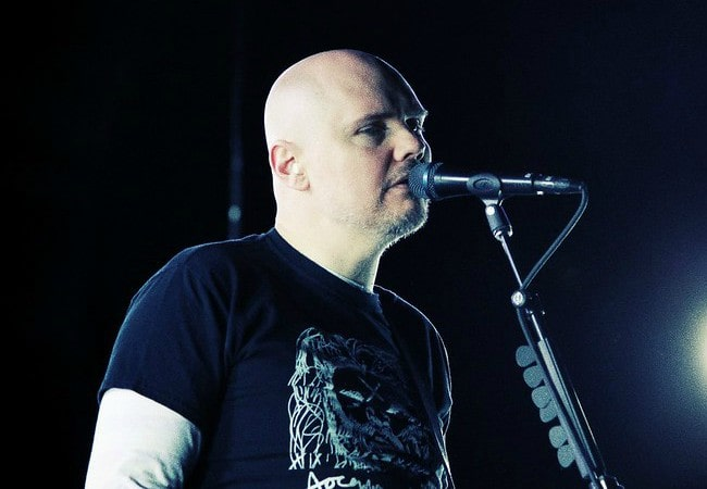 Billy Corgan during a performance as seen in October 2012