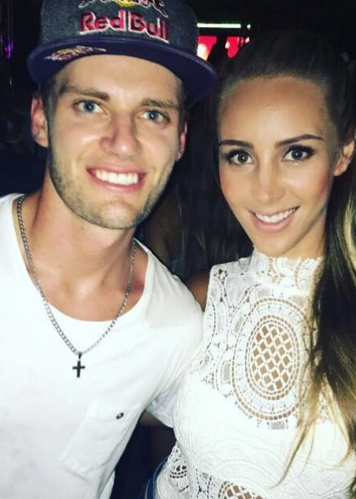Brad Binder and Courtney Renniers at a New Year Party in January 2017