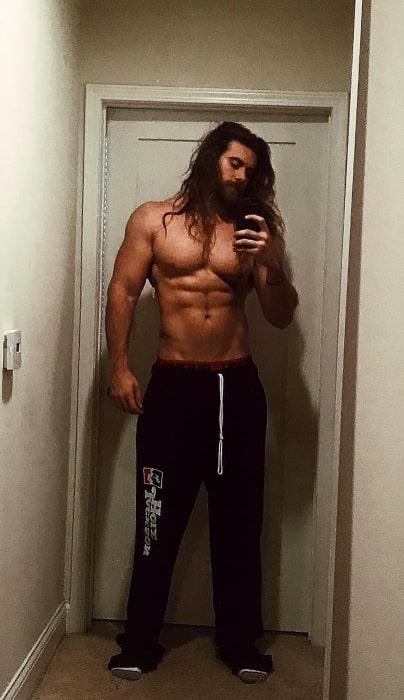 Brock O'Hurn in an Instagram selfie taken in 2017