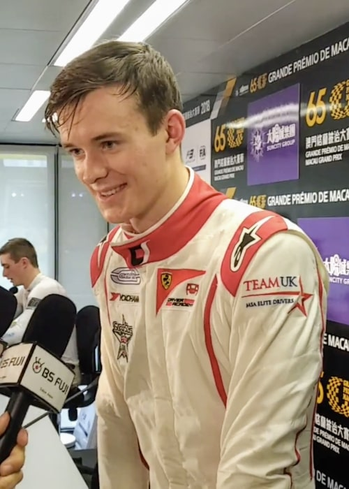 Callum Ilott as seen in a picture taken on the sidelines of the 2018 Macau Grand Prix on November 17