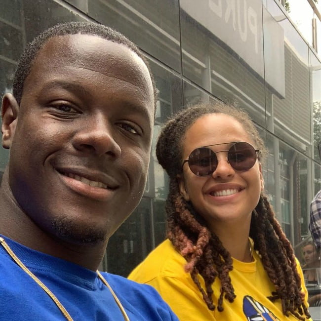 Carlos Brathwaite and Jessica Brathwaite as seen in July 2019