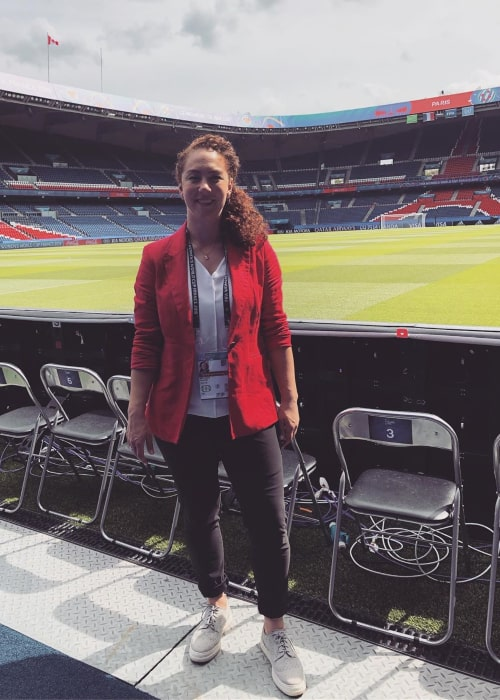Carmelina Moscato at the Parc des Princes stadium in Paris during the 2019 FIFA Women's World Cup