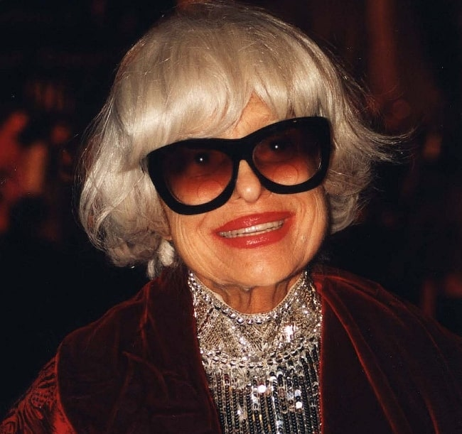 Carol Channing as seen during an event in Washington, D.C., United States in May 1996