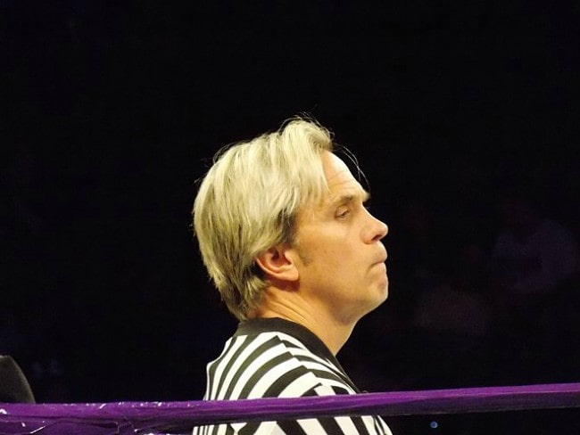 Charles Robinson at WWE SmackDown in July 2018