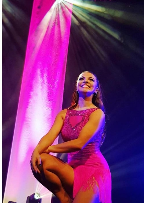 Chloe Hewitt performing at Grimsby in North East Lincolnshire in United Kingdom
