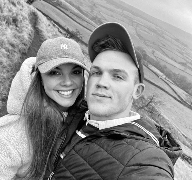 Chloe Hewitt with her boyfriend
