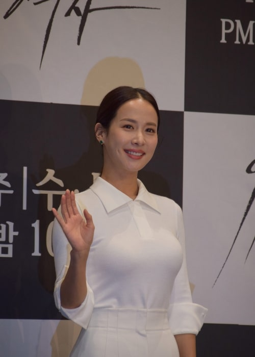 Cho Yeo-jeong as seen in a picture taken at the premier of Woman of 9.9 Billion on December 3, 2019