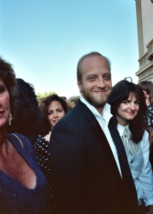 Chris Elliott as seen in a picture taken with his wife Paula Niedert at the September 1989 Emmy Awards event