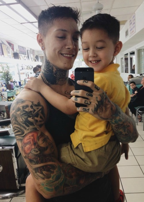 Photo of Chris Heria  & his  Son  Zen Heria