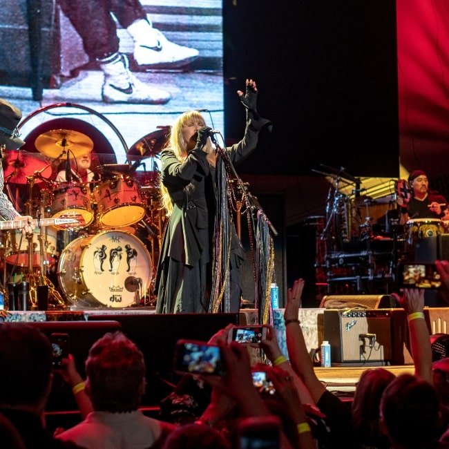 Christine McVie as seen in a picture taken during a live performance at the BOK Center Tulsa on Wednesday on October 3, 2018