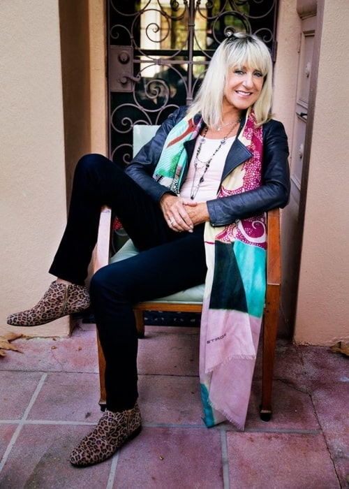 Christine McVie as seen in a picture that was uploaded as her Facebook profile picture on May 9, 2014