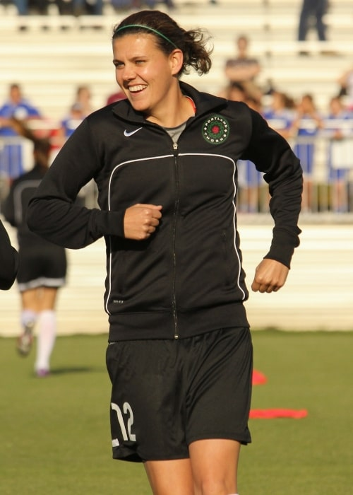 Christine Sinclair as seen in a picture taken on June 4, 2013
