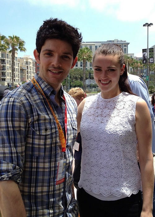 Colin Morgan and Katie McGrath as seen in April 2013