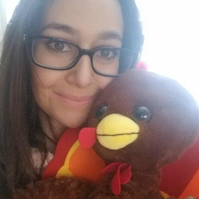 CookieSwirlC in an Instagram selfie as seen in November 2019