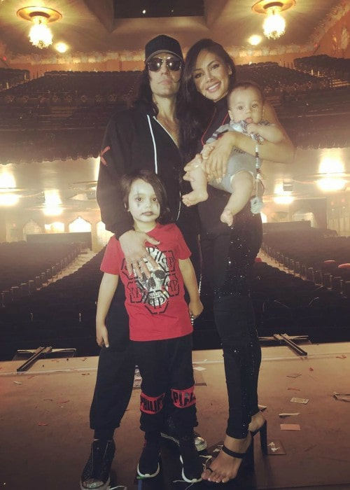 Criss Angel with his family as seen in July 2019