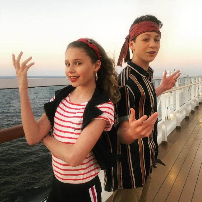 Dakota Lotus as seen in a pictue taken on the Disney Magic Cruise along with fellow actress Ruby Rose Turner in March 2019