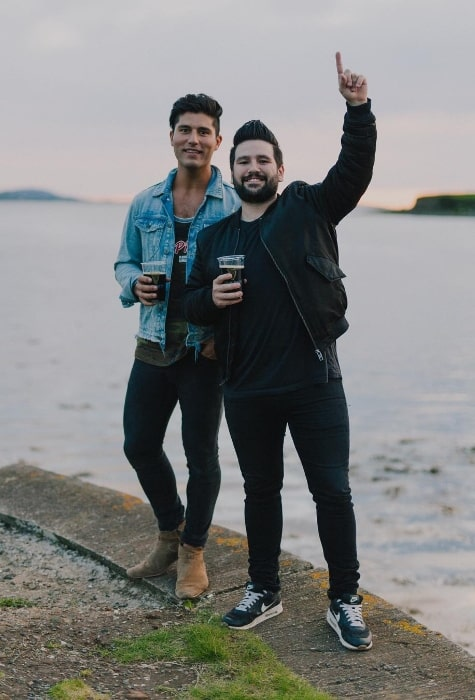 Dan Smyers (Left) in a picture along with Shay Mooney in Westport, County Mayo, Ireland in August 2017