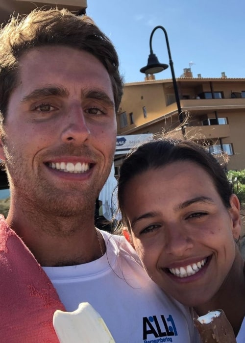 Dani Juncadella as seen in a selfie taken with his beau Alejandra in October 2019