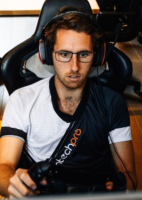 Daniel Juncadella as seen in a picture taken while he plays the game iRacing in November 2019